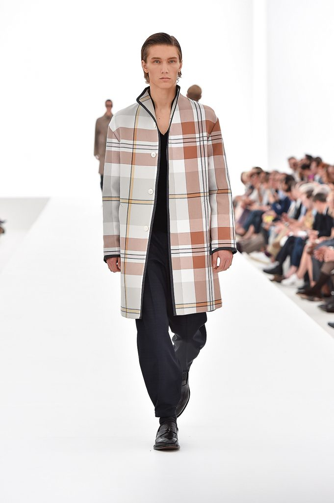 DA MAN Style Milan Fashion Week Spring Summer 2016 - ermenegildo Zegna Couture's Indian Madras coat