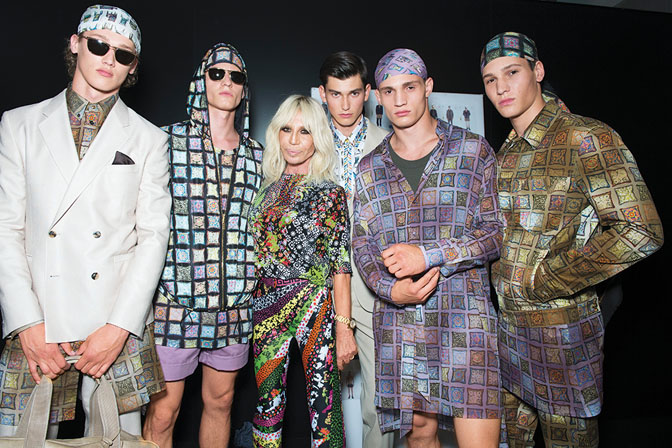 Donatella versace backstage at the Versace Men spring-summer 2016 show-exclusive interview for da man style-small
