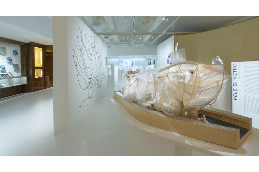 "A look at the exhibit ""Fondation Louis Vuitton Building in Paris by Frank Gehry."""