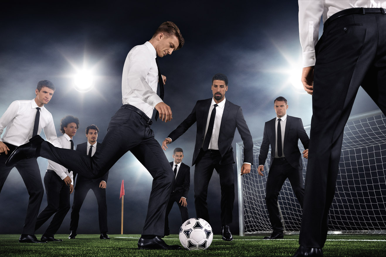 hugo boss dresses germany national team da man magazine. Black Bedroom Furniture Sets. Home Design Ideas