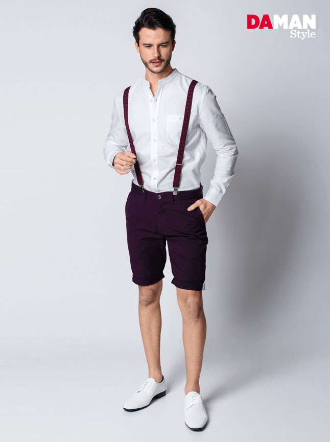 How to wear Mandarin Collar Shirt for Men-3-2