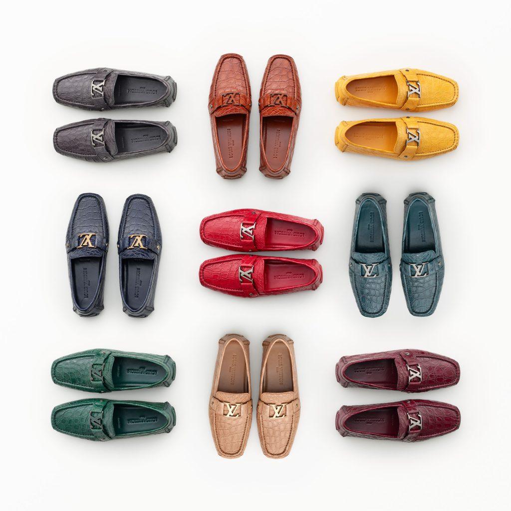 Louis Vuitton Caiman Driving Shoes