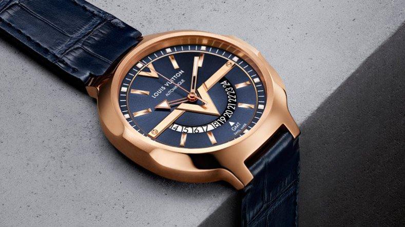 Louis Vuitton New GMT Watch-Rose Gold