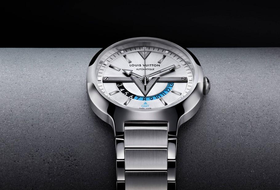 Louis Vuitton New GMT Watch-Steel-steel