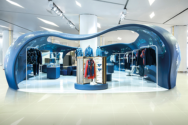 Louis Vuitton's indigo pop-up store in Bangkok-special report DA MAN