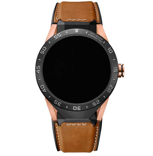 Tag Heuer Connected watch in rose gold