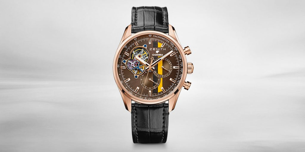 Zenith Cohiba watch rose gold