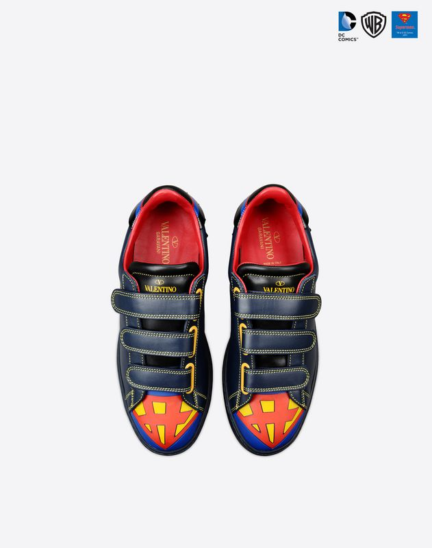 superman dc comics valentino sneakers