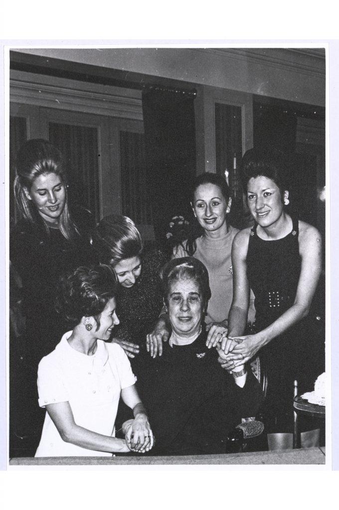 The Five Fendi Sisters and Adele Fendi.