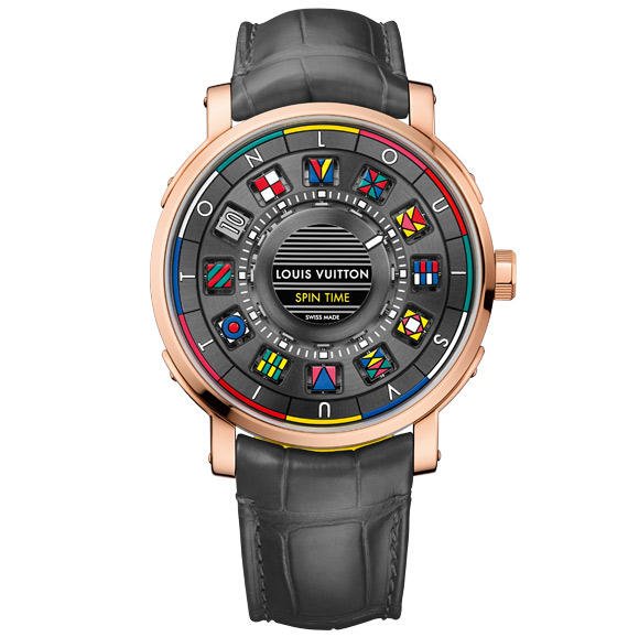 Louis Vuitton Escale Time Spin watch in rose gold