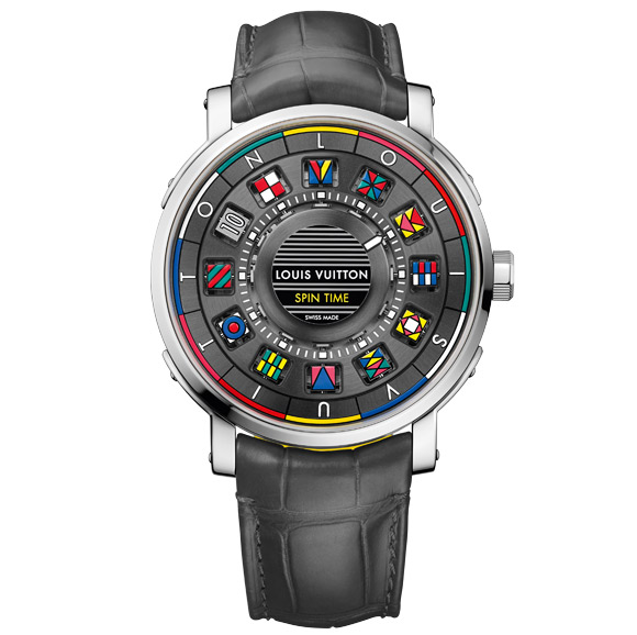Louis Vuitton Escale Time Spin watch in white gold