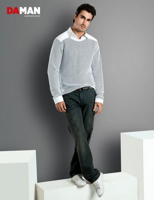 Models Felipe Izing, Rodolfo Rodriguez Silva, Tony Hernandez in Outfit by Calvin Klein Jeans