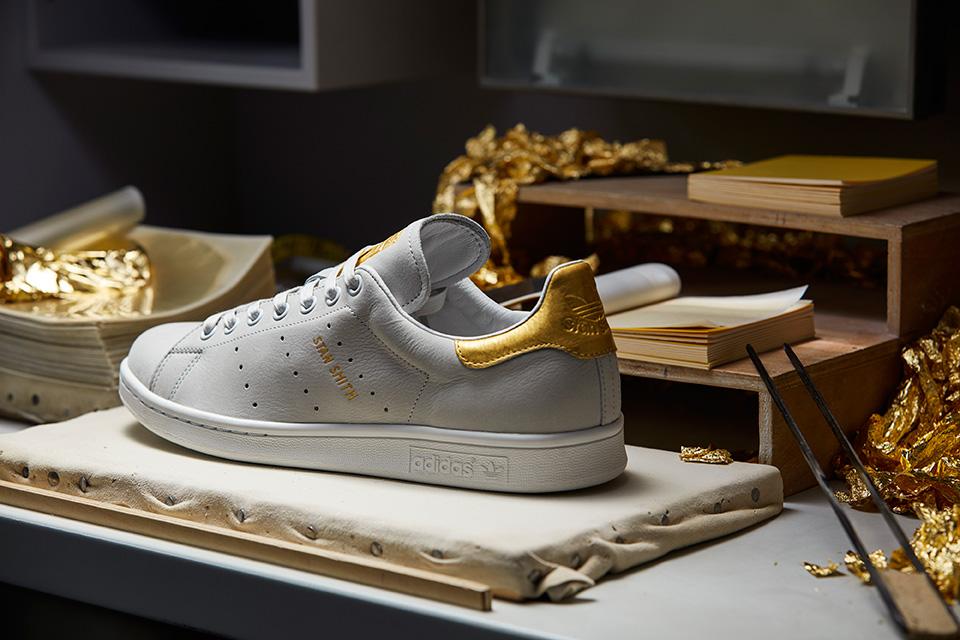 adidas stan smith gold