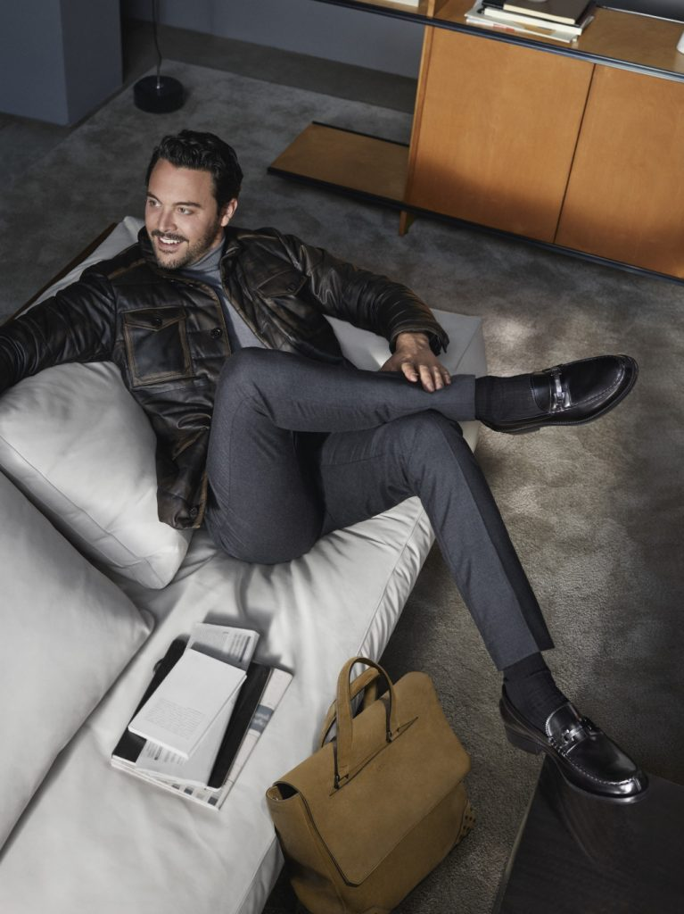 Jack Huston for Tod's Fall advertising campaign.