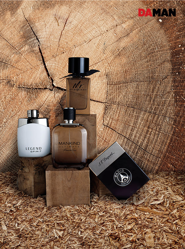 4 woody scents men's fragrance