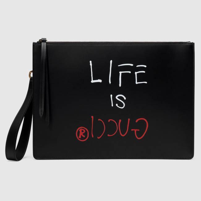 Gucci x GucciGhost Men's Portfolio Bag