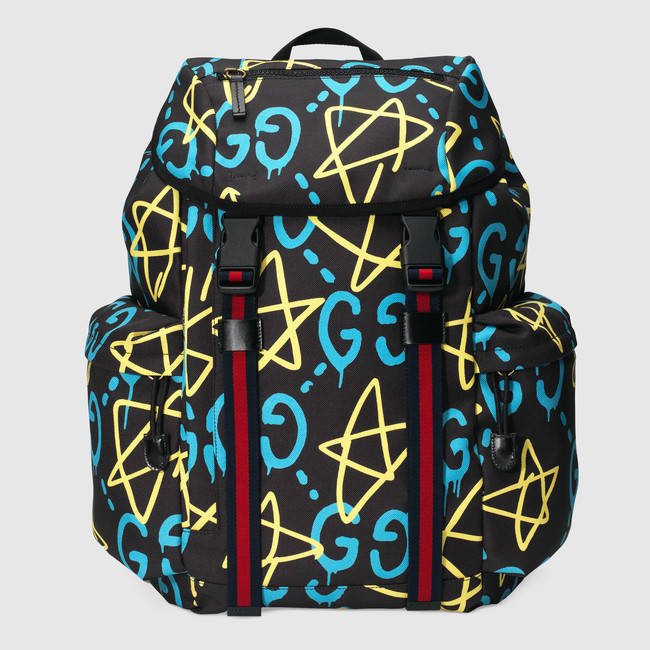 Gucci x GucciGhost Men's canvas backpack