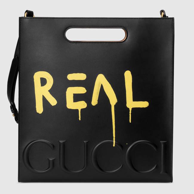 Gucci x GucciGhost Men's leather tote