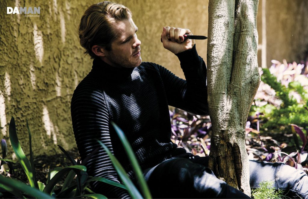 JAKE JENSEN for DA MAN web exclusive in Outfit by G-Star RAW
