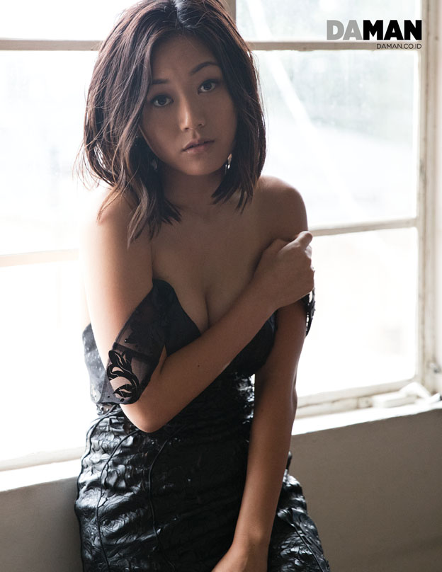Karen Fukuhara Katana of Suicide Squad in Dress by Mac Duggal