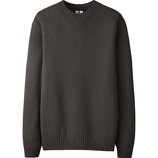 Men Cahsmere Blended Crewneck Sweater