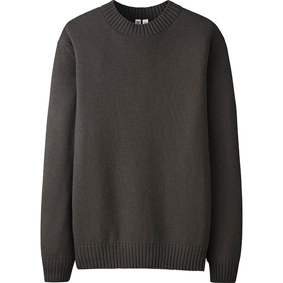 Men Cahsmere Blended Crewneck Sweater