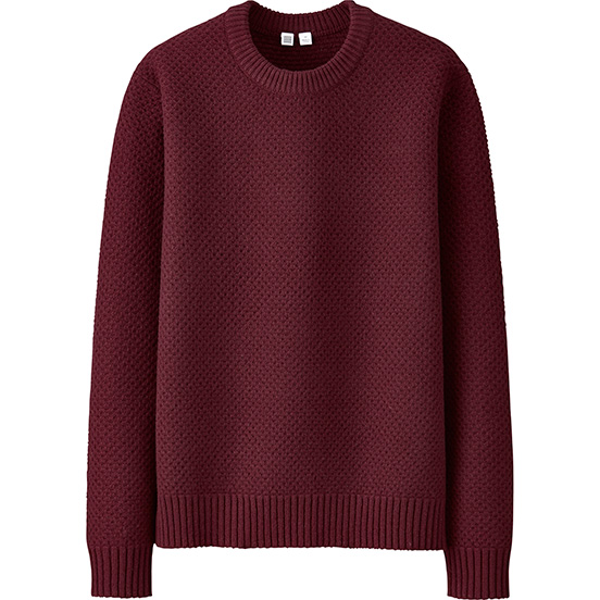 Men Lambswool Crewneck Sweater