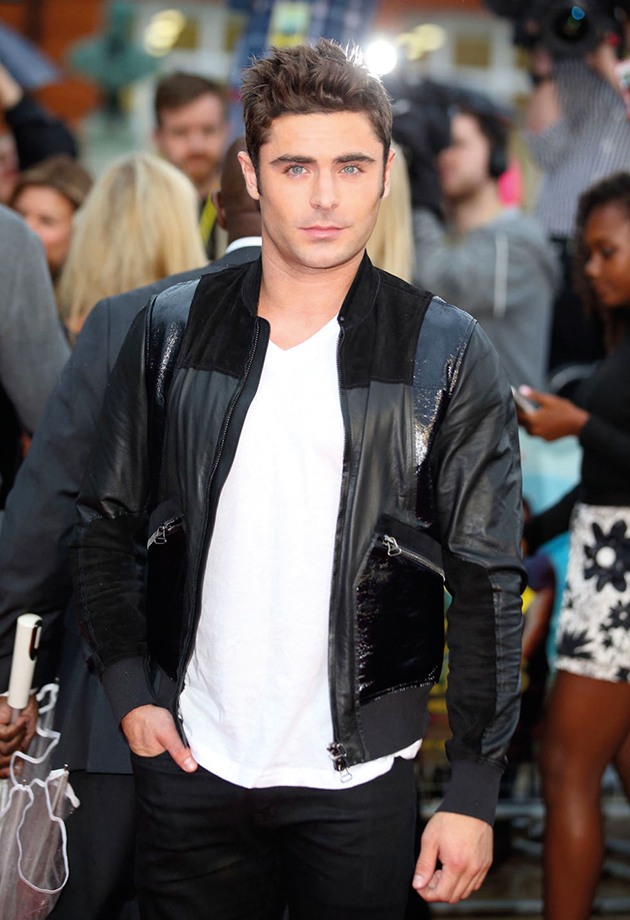 "Zac Efron rocking a Lanvin jacket at the European premiere of ""We Are Your Friends"""