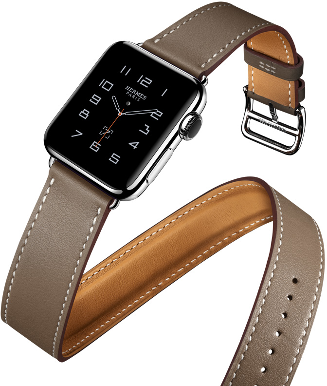Hermès Offers 4 Leather Band Styles for New Apple Watch ...