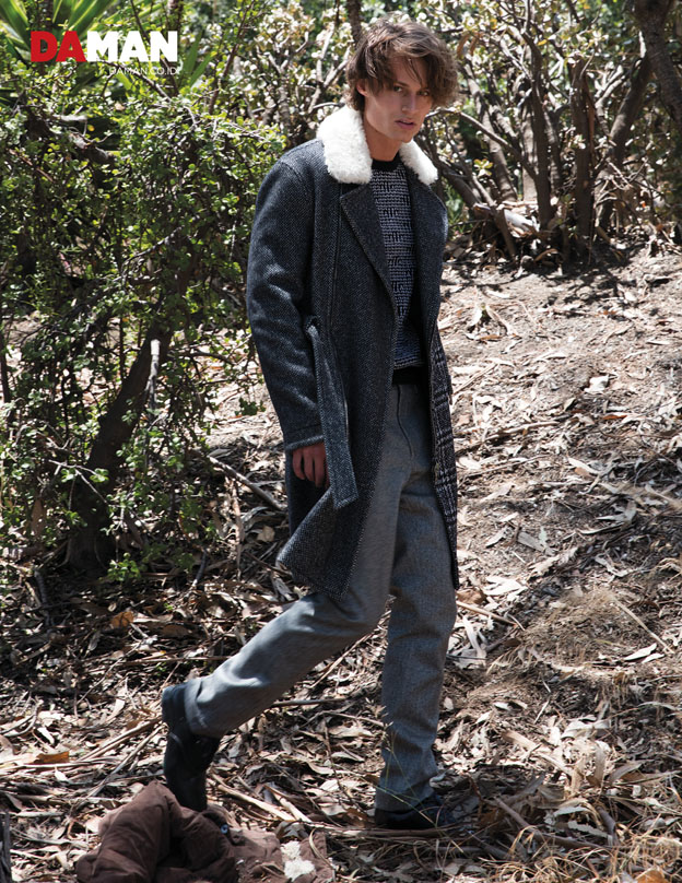 Model Andrew Raymond Thomas in Outfit and shoes by Salvatore Ferragamo