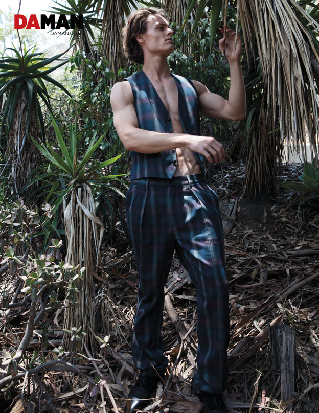 Model Andrew Raymond Thomas in outfit by etro