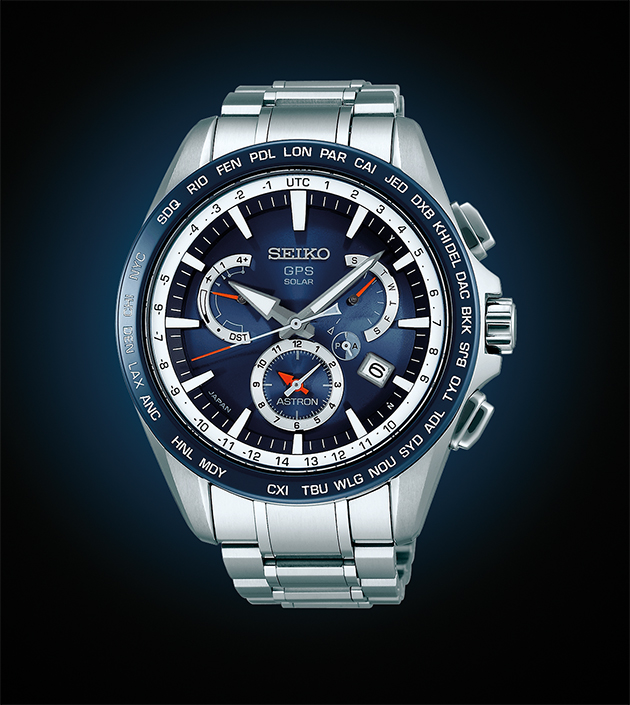 This seiko watch is world 39 s first solar powered gps timepiece da man magazine for Celebrity seiko watch