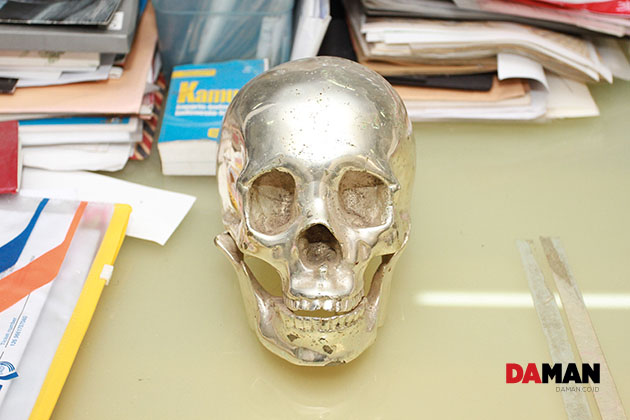 skulls are a recurring theme in the artist's work
