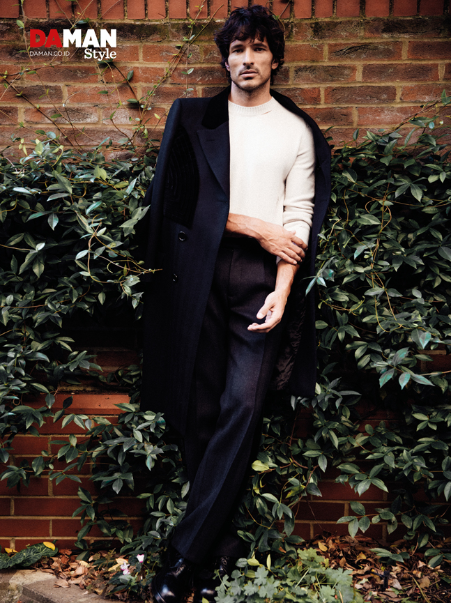Andrés Velencoso Segura for DA MAN Style FW16 in outfit and shoes by alexander McQueen