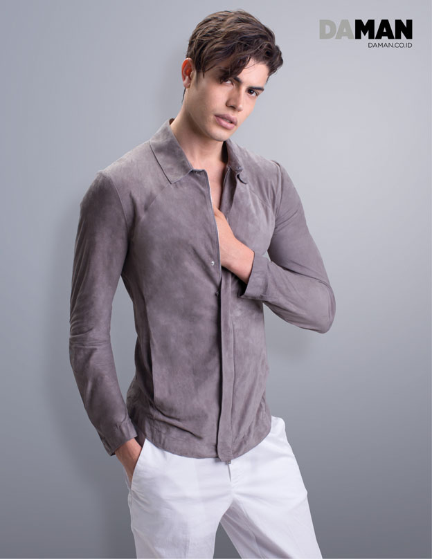 DA MAN OCTOBER-NOVEMBER 2016 Fall Winter Essential - Suede shirt by Emporio Armani, trousers by Hugo Boss