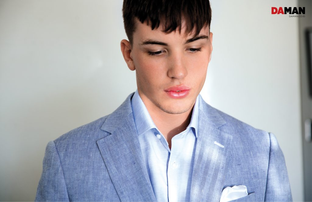 Model Benjamin Wall for DA MAN Online in Outfit by Klein, Epstein & Parker