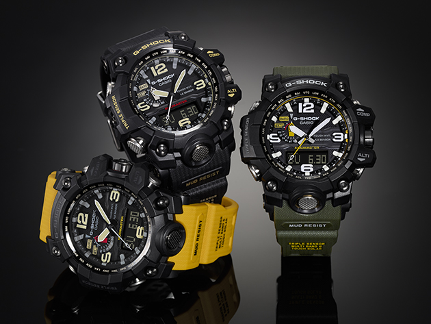 Casio G-Shock three variants of the Mudmaster watch