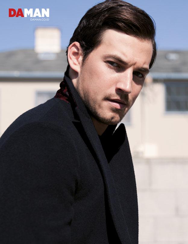 Giacomo Gianniotti of Grey's Anatomy in Coat by Etro