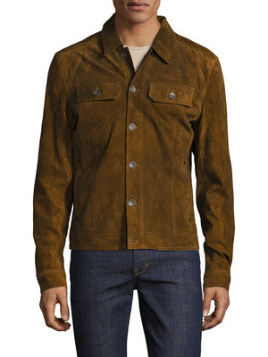 Justin Timberlake William Rast x Gilt Suede Jacket