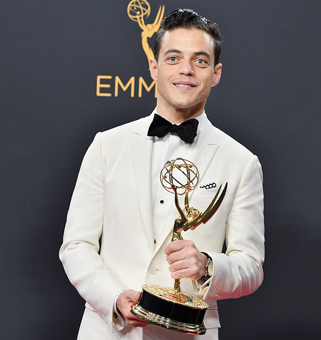 Rami Malek in Dior Homme at the 2016 Primetime Emmy Awards