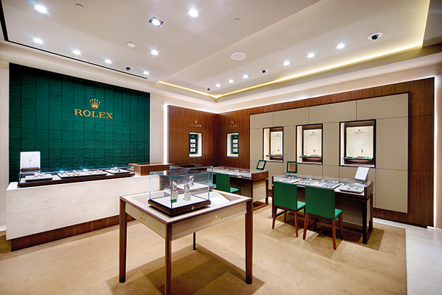 The largest Rolex in-store area in Indonesia
