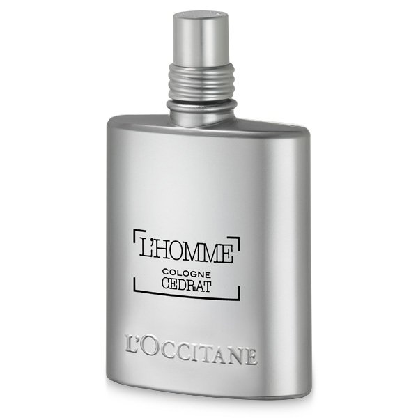 l'occitane cedrat homme cologne bottle