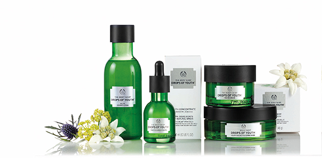 Body Shop Drops of Youth Range