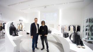Christopher Kilaniotis (president of Louis Vuitton South Asia) and Hiroshi Fujiwara