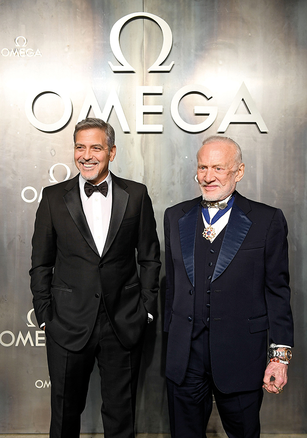 Lost in Space event George Clooney and Buzz Aldrin