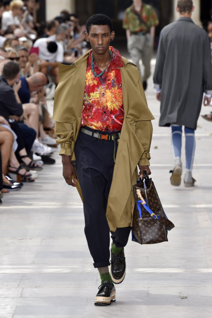 38d8110f142c As the hot humid heat filled the plastic tent that was to showcase Kim  Jones latest designs for Louis Vuitton s spring summer 2018 collection