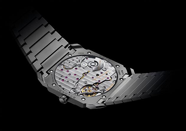 The watch's caseback