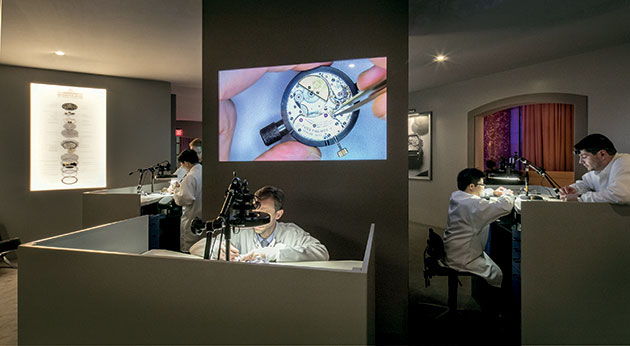 master watchmakers in the Watchmaker's Room