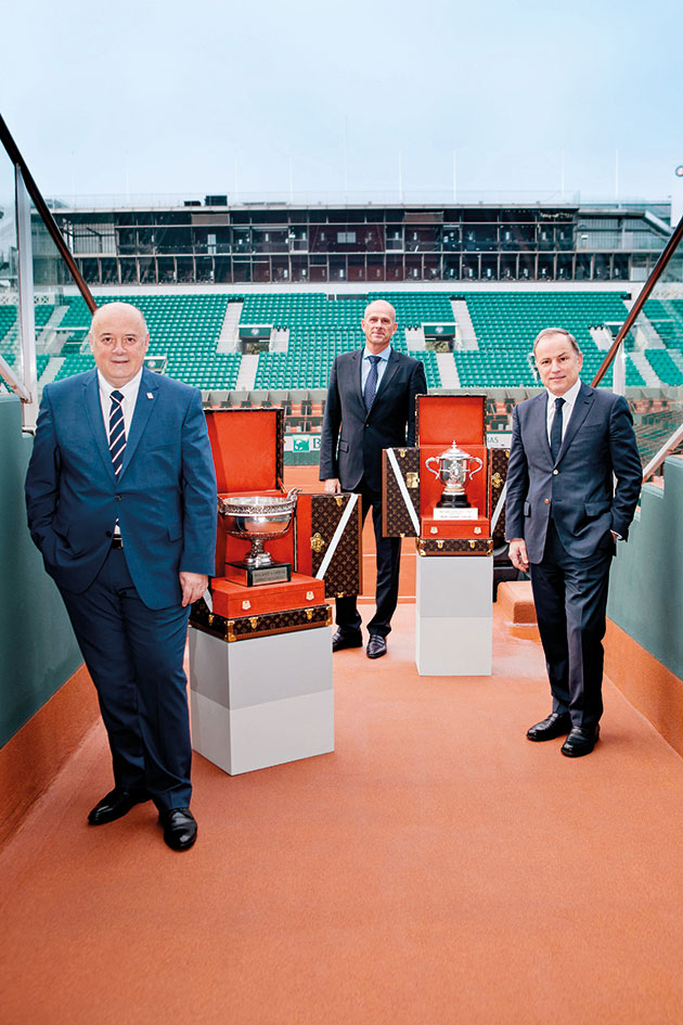 Michael Burke, Bernard Giudicelli and Guy Forget