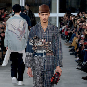 A pajama look from the fall/winter show